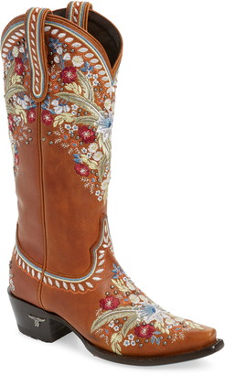 Chloé Lane Boots Floral Embroidered Western Boot
