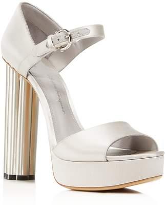 Salvatore Ferragamo Women's Satin Floral High-Heel Platform Sandals