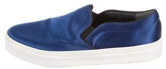 Celine Satin Slip-On Sneakers