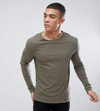 Heart & Dagger muscle fit long sleeve t-shirt with embroidery