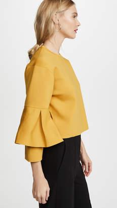 Tibi Bell Sleeve Sculpted Pullover