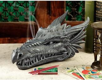 Toscano Design Stryker the Smoking Dragon Sculptural Incense Box