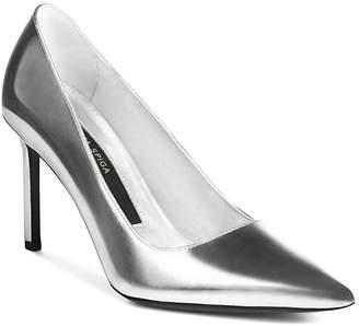 Via Spiga Women's Nikole Leather Pointed Toe High Heel Pumps