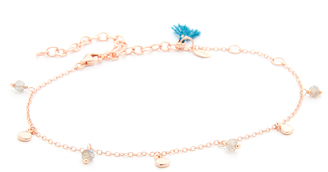 Shashi Disc Charm Anklet $66 thestylecure.com