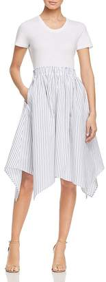 DKNY Handkerchief-Hem Combo Dress