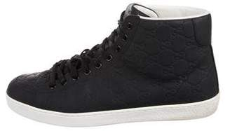 Gucci Guccissima High-Top Sneakers