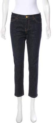 Valentino Mid-Rise Cropped Jeans
