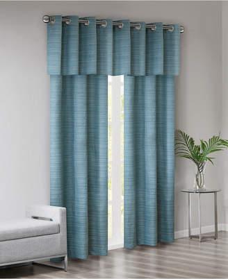 Piké 510 Design Grasscloth Room Darkening Grommet 40 X 63 3 Pc Window Curtain Set