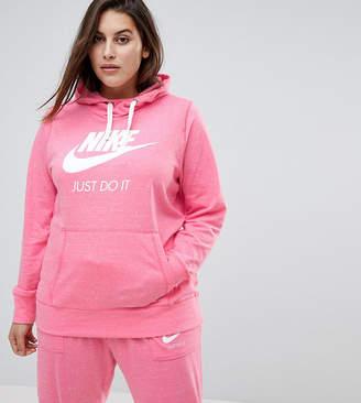 Nike Plus Gym Vintage Full Zip Hoodie In Pink Nebula