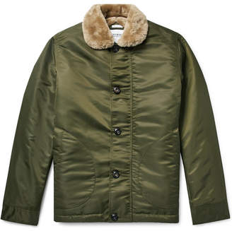 Freemans Sporting Club Shearling-Lined Nylon Jacket