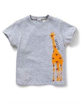 Armani Junior Boys Short Sleeve Animal Print Tee