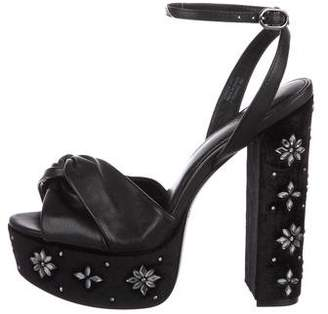 Rachel Zoe Leather Platform Sandals