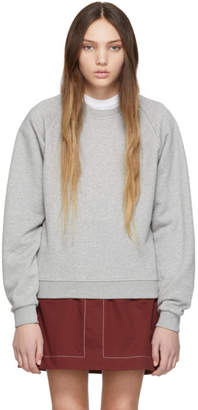 MAISON KITSUNÉ Grey Fox Head Patch Sweatshirt