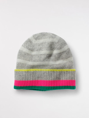 White Stuff Cashmere Stripe Beanie Hat