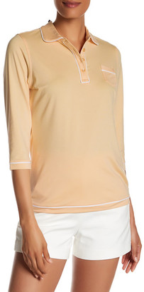 Peter Millar 3/4 Length Sleeve Piped Polo $79.50 thestylecure.com
