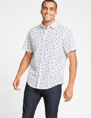 Marks and Spencer Pure Cotton Skier Print Shirt