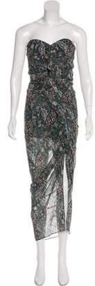 Veronica Beard Peyton Silk Strapless Dress w/ Tags