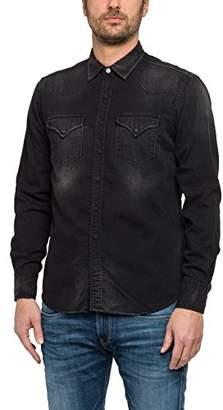 Replay Men's Jeans Shirt,Large
