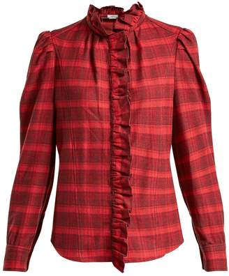 Etoile Isabel Marant Dules ruffle-collar cotton shirt
