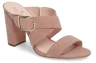 Kate Spade Orchid Suede Block Heel Sandal