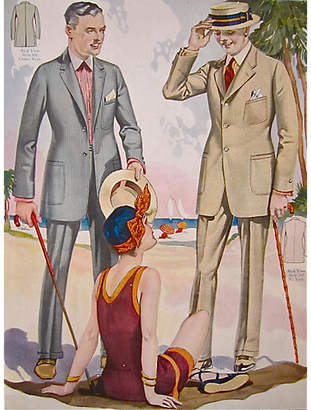 One Kings Lane Vintage Summer 1923 Fashion Poster Taliors Shop - Antiquarian Art Company Art
