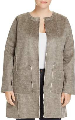 Bobeau B Collection by Curvy Anja Faux Shearling Jacket