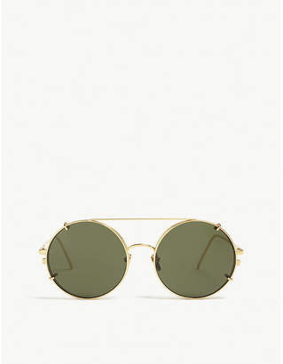 fcd0847e0f5 at Selfridges · Linda Farrow LFL647 round-frame sunglasses