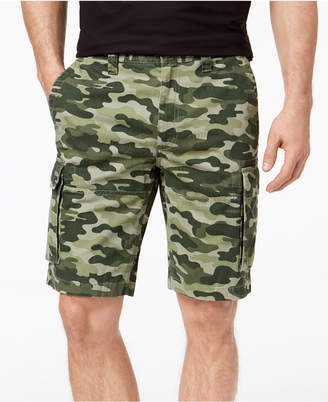 "Club Room Men's Classic-Fit Camouflage-Print 9"" Cargo Shorts Created for Macy's"