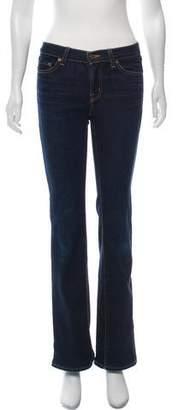 J Brand Mid-Rise Boot Leg Jeans