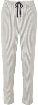 Eberjey The Slim Striped Stretch-modal Pajama Pants - Light denim