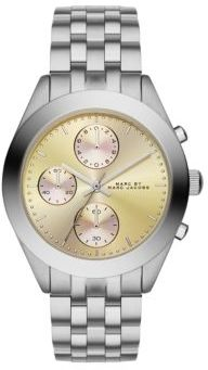Marc by Marc Jacobs Peeker Stainless Steel Chronograph Bracelet Watch/Mandarin $225 thestylecure.com