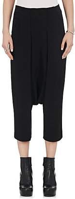 Rick Owens Women's Cady Drop-Rise Crop Pants - Black