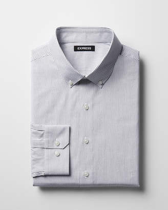 Express Classic Striped Cotton Button-Down Dress Shirt
