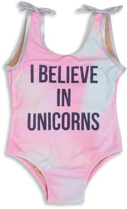 Shade Critters Unicorns Rainbow One-Piece Swimsuit, Size 6M-5