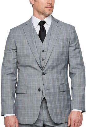 STAFFORD Stafford Plaid Classic Fit Stretch Suit Jacket