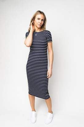Gibson Stripe Knit Maxi Dress