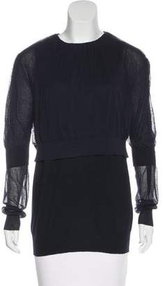 Acne Studios Knit Wool-Blend Top