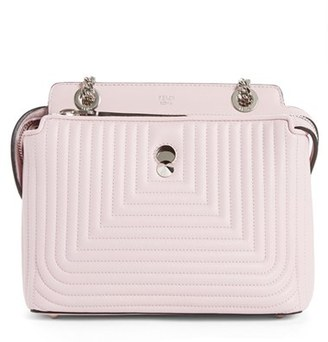 Fendi Small Dotcom Click Quilted Leather Shoulder Bag - Beige $2,600 thestylecure.com