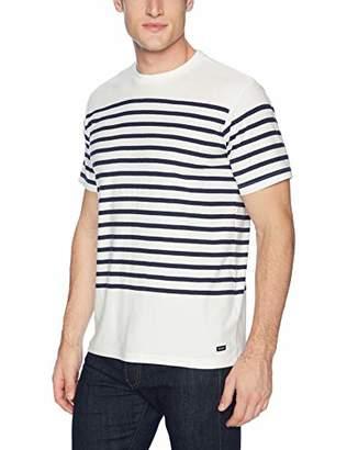 RVCA Men's Dean Stripe Short Sleeve Crew Neck T-Shirt