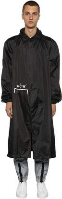 A-Cold-Wall* Logo Details Hooded Nylon Storm Coat