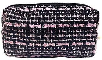 Apres (アプレ) - 化粧ポーチ 編み柄A BKxピンク【9070】