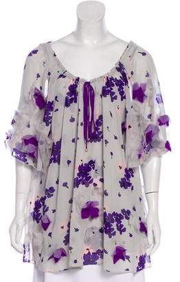 Temperley London Silk Printed Top