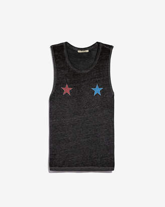 Express Two Stars Graphic Muscle Tank