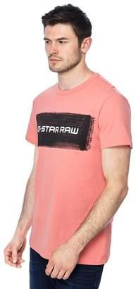 G Star G-Star - Light Pink Logo Print T-Shirt