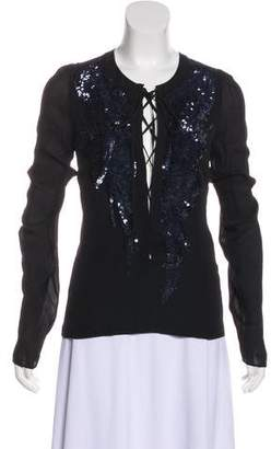 Barbara Bui Sequin Silk Blouse w/ Tags