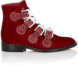 Givenchy Women's Elegant Studded Velvet Ankle Boots