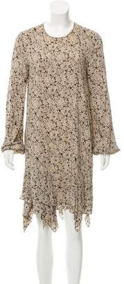 Thomas Wylde Printed Long Sleeve Dress