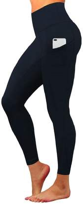 Esast Women's High Waisted Yoga Quick Dry Workout Running Leggings with Pocket 12 L