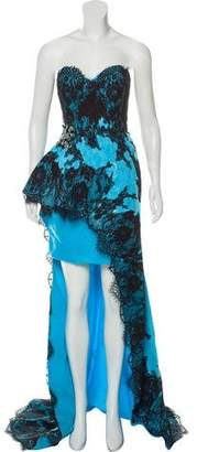 Terani Couture Strapless Evening Dress w/ Tags