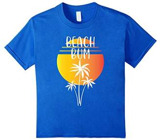 Beach Bum Palm Tree and Sunset T-Shirt
